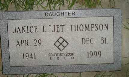"THOMPSON, JANICE E. ""JET"" - Miner County, South Dakota | JANICE E. ""JET"" THOMPSON - South Dakota Gravestone Photos"