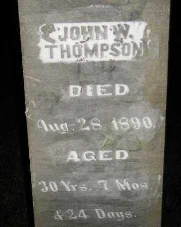 THOMPSON, JOHN W. - Miner County, South Dakota | JOHN W. THOMPSON - South Dakota Gravestone Photos