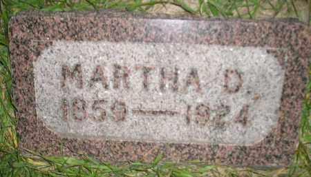 THOMPSON, MARTHA D. - Miner County, South Dakota | MARTHA D. THOMPSON - South Dakota Gravestone Photos