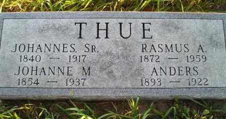 THUE, JOHANNE M. - Miner County, South Dakota | JOHANNE M. THUE - South Dakota Gravestone Photos