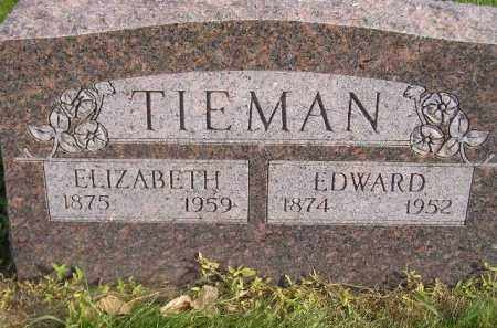 TIEMAN, EDWARD - Miner County, South Dakota | EDWARD TIEMAN - South Dakota Gravestone Photos