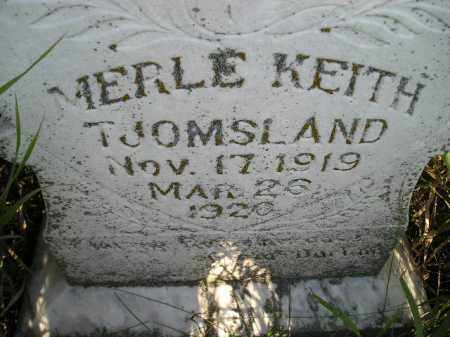 TJOMSLAND, MERLE KEITH - Miner County, South Dakota | MERLE KEITH TJOMSLAND - South Dakota Gravestone Photos