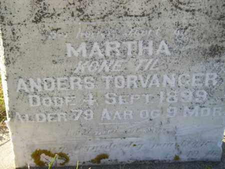 TORVANGER, MARTHA - Miner County, South Dakota | MARTHA TORVANGER - South Dakota Gravestone Photos