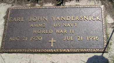VANDERSNICK, EARL JOHN (WW II) - Miner County, South Dakota | EARL JOHN (WW II) VANDERSNICK - South Dakota Gravestone Photos