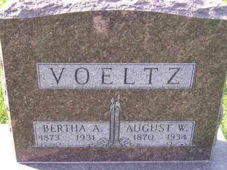VOELTZ, AUGUST W. - Miner County, South Dakota | AUGUST W. VOELTZ - South Dakota Gravestone Photos