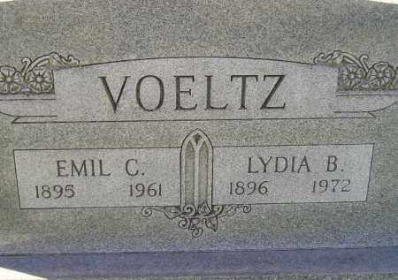 VOELTZ, LYDIA B. - Miner County, South Dakota | LYDIA B. VOELTZ - South Dakota Gravestone Photos