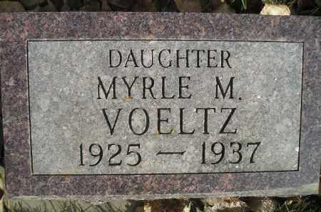VOELTZ, MYRLE M. - Miner County, South Dakota | MYRLE M. VOELTZ - South Dakota Gravestone Photos