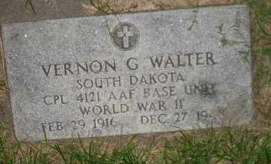 WALTER, VERNON G. - Miner County, South Dakota | VERNON G. WALTER - South Dakota Gravestone Photos