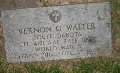 WALTER, VERNON G. - Miner County, South Dakota   VERNON G. WALTER - South Dakota Gravestone Photos