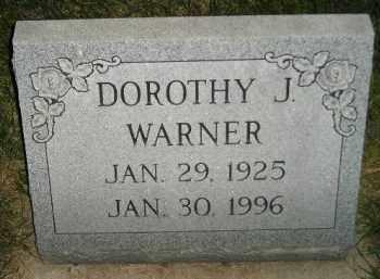 WARNER, DOROTHY J. - Miner County, South Dakota   DOROTHY J. WARNER - South Dakota Gravestone Photos