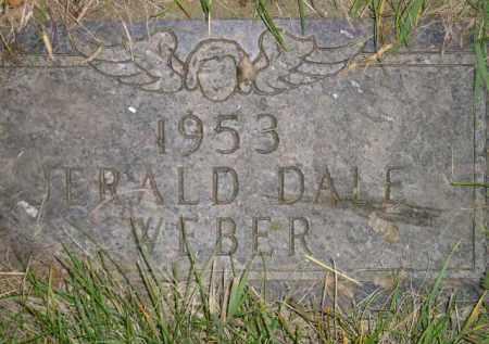 WEBER, JERALD DALE - Miner County, South Dakota | JERALD DALE WEBER - South Dakota Gravestone Photos