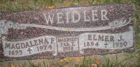 WEIDLER, MAGDALENA F. - Miner County, South Dakota | MAGDALENA F. WEIDLER - South Dakota Gravestone Photos
