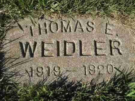 WEIDLER, THOMAS E. - Miner County, South Dakota | THOMAS E. WEIDLER - South Dakota Gravestone Photos