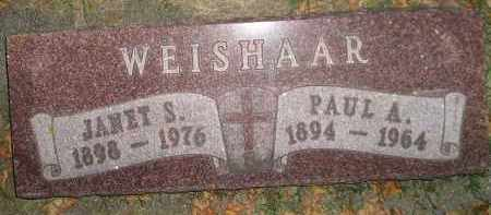 WEISHAAR, JANET S. - Miner County, South Dakota | JANET S. WEISHAAR - South Dakota Gravestone Photos