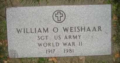 WEISHAAR, WILLIAM O. (WW II) - Miner County, South Dakota | WILLIAM O. (WW II) WEISHAAR - South Dakota Gravestone Photos