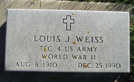 WEISS, LOUIS J. (WW II) - Miner County, South Dakota   LOUIS J. (WW II) WEISS - South Dakota Gravestone Photos