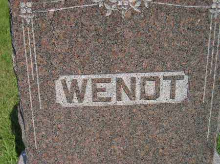 WENDT, FAMILY STONE - Miner County, South Dakota | FAMILY STONE WENDT - South Dakota Gravestone Photos