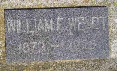WENDT, WILLIAM F. - Miner County, South Dakota | WILLIAM F. WENDT - South Dakota Gravestone Photos