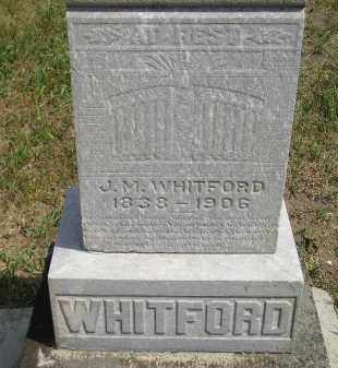 WHITFORD, J.M. - Miner County, South Dakota | J.M. WHITFORD - South Dakota Gravestone Photos