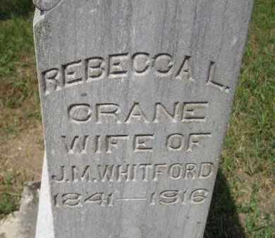 CRANE WHITFORD, REBECCA L. - Miner County, South Dakota | REBECCA L. CRANE WHITFORD - South Dakota Gravestone Photos
