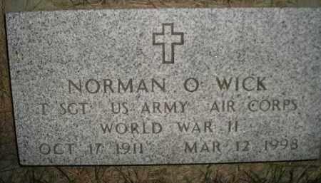 WICK, NORMAN O. - Miner County, South Dakota | NORMAN O. WICK - South Dakota Gravestone Photos