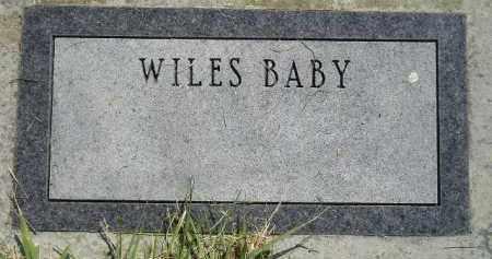 WILES, BABY - Miner County, South Dakota | BABY WILES - South Dakota Gravestone Photos
