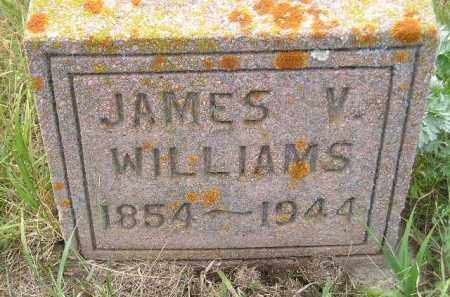 WILLIAMS, JAMES V. - Miner County, South Dakota | JAMES V. WILLIAMS - South Dakota Gravestone Photos
