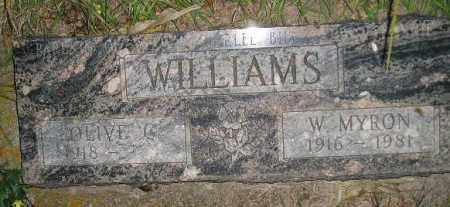 WILLIAMS, W. MYRON - Miner County, South Dakota | W. MYRON WILLIAMS - South Dakota Gravestone Photos