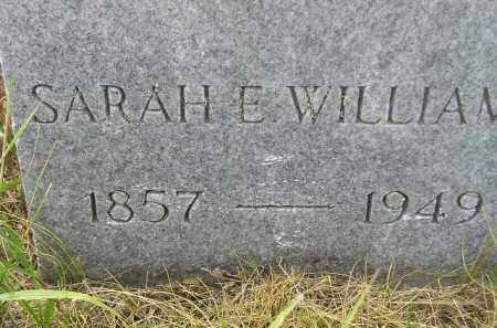 WILLIAMS, SARAH E. - Miner County, South Dakota | SARAH E. WILLIAMS - South Dakota Gravestone Photos