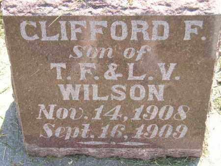 WILSON, CLIFFORD F. - Miner County, South Dakota | CLIFFORD F. WILSON - South Dakota Gravestone Photos