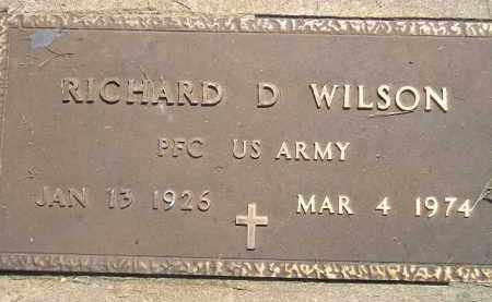 WILSON, RICHARD D. (MILITARY) - Miner County, South Dakota   RICHARD D. (MILITARY) WILSON - South Dakota Gravestone Photos