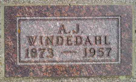 WINDEDAHL, A.J. - Miner County, South Dakota | A.J. WINDEDAHL - South Dakota Gravestone Photos