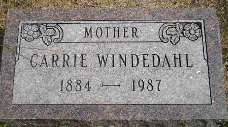 WINDEDAHL, CARRIE - Miner County, South Dakota | CARRIE WINDEDAHL - South Dakota Gravestone Photos