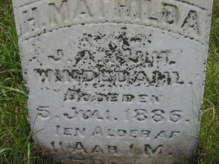 WINDEDAHL, H. MATHILDA - Miner County, South Dakota   H. MATHILDA WINDEDAHL - South Dakota Gravestone Photos