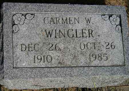 WINGLER, CARMEN W. - Miner County, South Dakota | CARMEN W. WINGLER - South Dakota Gravestone Photos