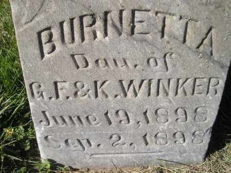 WINKER, BURNETTA - Miner County, South Dakota   BURNETTA WINKER - South Dakota Gravestone Photos