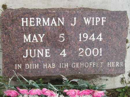 WIPF, HERMAN J. - Miner County, South Dakota | HERMAN J. WIPF - South Dakota Gravestone Photos