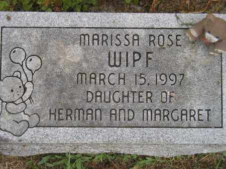 WIPF, MARISSA ROSE - Miner County, South Dakota | MARISSA ROSE WIPF - South Dakota Gravestone Photos