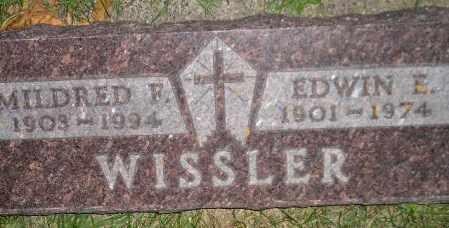WISSLER, MILDRED F. - Miner County, South Dakota | MILDRED F. WISSLER - South Dakota Gravestone Photos