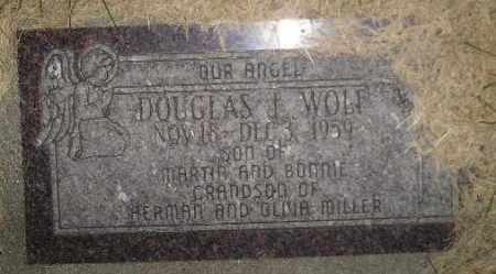 WOLF, DOUGLAS J. - Miner County, South Dakota | DOUGLAS J. WOLF - South Dakota Gravestone Photos