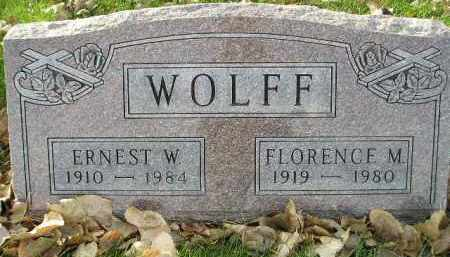 WOLFF, ERNEST W. - Miner County, South Dakota | ERNEST W. WOLFF - South Dakota Gravestone Photos