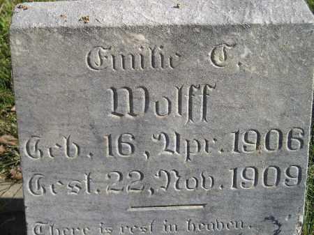 WOLFF, EMILIE - Miner County, South Dakota | EMILIE WOLFF - South Dakota Gravestone Photos