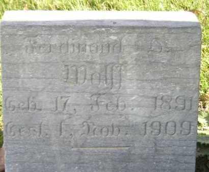 WOLFF, FERDINAND - Miner County, South Dakota   FERDINAND WOLFF - South Dakota Gravestone Photos