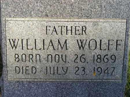WOLFF, WILLIAM - Miner County, South Dakota | WILLIAM WOLFF - South Dakota Gravestone Photos