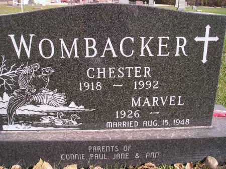 WOMBACKER, MARVEL THORSON - Miner County, South Dakota | MARVEL THORSON WOMBACKER - South Dakota Gravestone Photos