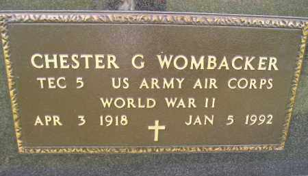 WOMBACKER, CHESTER G. (WW II) - Miner County, South Dakota | CHESTER G. (WW II) WOMBACKER - South Dakota Gravestone Photos