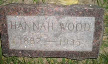 WOOD, HANNAH - Miner County, South Dakota | HANNAH WOOD - South Dakota Gravestone Photos