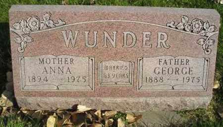 WUNDER, GEORGE - Miner County, South Dakota | GEORGE WUNDER - South Dakota Gravestone Photos