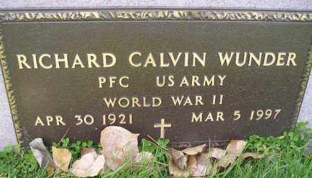 WUNDER, RICHARD CALVIN (WW II) - Miner County, South Dakota | RICHARD CALVIN (WW II) WUNDER - South Dakota Gravestone Photos