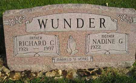CROSS WUNDER, NADINE G. - Miner County, South Dakota | NADINE G. CROSS WUNDER - South Dakota Gravestone Photos